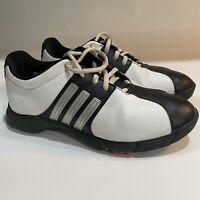 ADIDAS ADIWEAR TRAXION Men's Golf Shoes EVG 791003 White/Black Leather Size 5