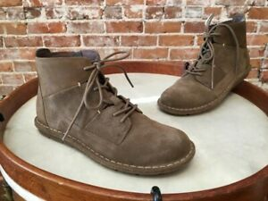 Clarks Olive Green Suede & Leather Lace up Tamitha Key Ankle Boot 9.5 NEW