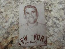 Signed Yogi Berra Exhibit Card.  Blank Back.  Hall of Fame.  New York Yankees
