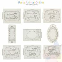 Katy Sue Designs - Silicone Plaque Moulds - Craft and Cake Decoration Tools