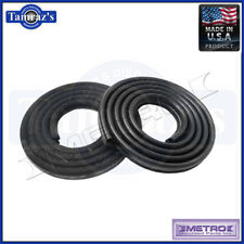62-66 Mopar A & B Body Front Door Weatherstrip Seals 4 Door Sedan Black Metro
