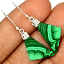 Malachite 925 Sterling Silver Earring Jewelry AE178313