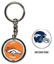 Denver Broncos Key Ring Spinning 2 Sided Metal Key Ring ,Nfl Football