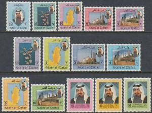 Qatar 1992 ** Mi.967/74 und 981/86 Freimarken Definitives Scheich Khalifa [q746]