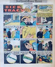 Dick Tracy by Chester Gould - full tab color Sunday comic page - June 6, 1954