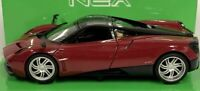 Pagani Huayra, Dark Red , Classic, Metal Model, Car, Welly 1/24