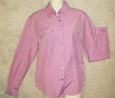 Joanna Ladies Mauve Long Sleeve button down blouse Size Small