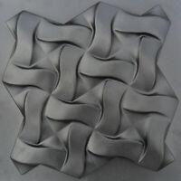 Mold for Plaster 3D Decorative Wall Panels, 1 pcs ABS Plastic mold TWIST 3 d