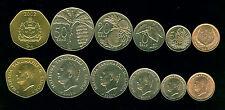 Samoa 6 coins set 2 5 10 20 50 Sene 1$ 2000-2002 UNC