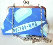 DOCTOR WHO VINTAGE BLUE TARDIS DALEK DR HANDMADE HANDBAG geek prom wedding gift