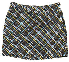 aLL Joyfit size 14 woman's NWOT brown plaid golf skort