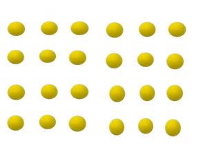E-Deals 70mm Soft Foam/Sponge Balls - Pack of 24 Yellow