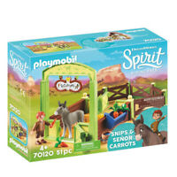 "70120 Playmobil Spirit Horse Box ""Snips & Señor Carrots"" Spirit Riding Free Suit"