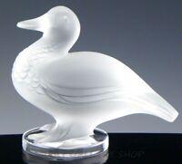 Lalique France Crystal Figurine Paperweight #11657 GEDEON CANARD DUCK BIRD Mint