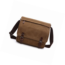 Aizbo Men's Shoulder Messenger Bag Canvas Crossbody Day Laptop Bag for 15 Inches