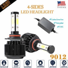 4Sides 9012 72W 16000Lm 6000K Led Headlight Kit High Low Beam Bulb Canbus Emc(Fits: Cadillac)