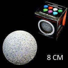 LOT 10  LAMPE BOULE CRISTAL LED 8 CM COULEUR CHANGEANTE DECO