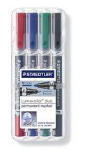 Staedtler 348 WP4 -Lumocolor Permanent Double Ended Permanent Marker - Pack of 4