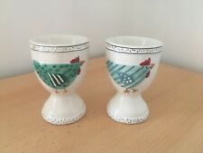 Two Gisela Graham egg cups chicken motif - cute and modern