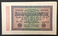GERMANY (Weimar Republic) 20000 Mark, 1923, World Currency