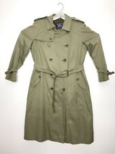 Burberry Heritage Trench UK Sz 54 Reg /US 44 w/Removable Liner Green ($1,495)