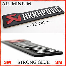AKRAPOVIC MOTO ESCAPE Resistente Aluminio Calcomanía/Pegatina De Vinilo/emblema