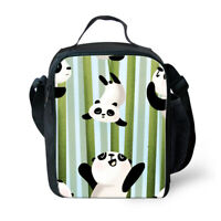 Panda Thermal Insulated Lunch Bag Shoulder Cooler Bento Box Kids School Bags