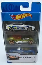 2017 Hot Wheels 3 pack CUSTOMS Police Sports Car Cool! FWG56 SHIPS IN 24HRS