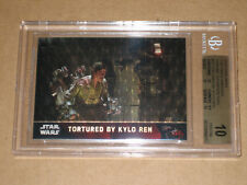 BGS 10 STAR WARS 2016 FORCE AWAKENS CHROME KYLO REN SUPERFRACTOR CARD 1/1 MOVIE