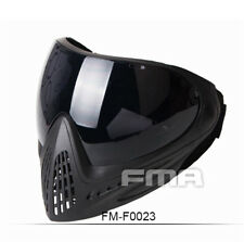 Full Face Mask FMA Paintball Airsoft Safety Anti-fog Anti-Dust Goggle Black Len