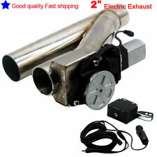 """2"""" 50mm Y Pipe Cutout Electric Exhaust Catback Down Pipe Valve remote"""