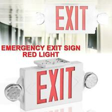 Led Exit Sign Emergency Lighthi Output Compact Combo Ul Listed Red Us