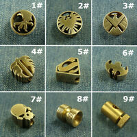 Solid Brass Lanyard Bead paracord Beads Knife Tool Bead