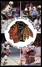 1984-85 CHICAGO BLACK HAWKS YEARBOOK MEDIA GUIDE WITH DENIS SAVARD ED OLCZYK