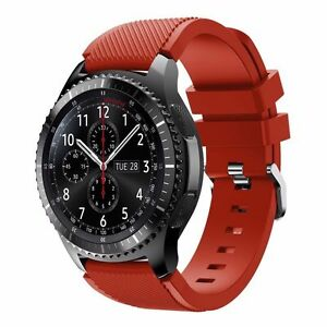 22mm Silicone Strap Watch Band For Samsung Galaxy Watch 45 46mm Gear S3 Frontier