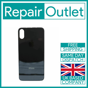 For Apple iPhone X Replacement Back Glass (Black) UK Stock Quality Part Genuine