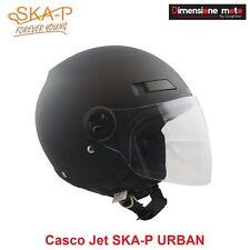 Casco JET con Visiera Lunga SKA-P URBAN Colore Nero Gommato Taglia L 59/60 cm