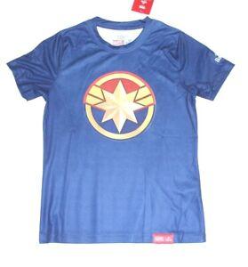 Marvel x Daedo Dae do Captain Marvel logo Boys Active wear tee shirt --NAVY