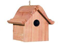 Wren Bird House Home Cedar Wood Hanging Weather Resistant Box Nesting Wild New