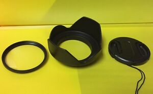 FLOWER HOOD+UV+LENS CAP 72mm > SONY HDR-FX1 HVR-Z1U DSC-RX10III,RX10 III,RX10M3