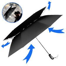 Portable Travel Umbrella Auto Open&Close Vented Wind Resistant Double Canopy NEW