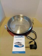 12-Inch Stainless Steel CucinaPro Lockable Lid Tempered Glass Electric Skillet