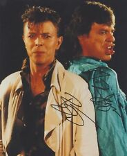 """Mick Jagger & David Bowie """"Dancing in the Street"""" RARE DUEL-SIGNED RP 8X10 WOW!!"""