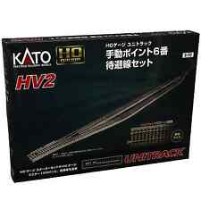 Kato 3-112 HV2 Passing Siding Track Set With #6 Manual Turnout - HO