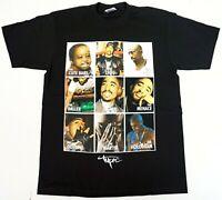 TUPAC SHAKUR T-shirt 2Pac West Coast Hip Hop Rap Tee Men's 100% Cotton New