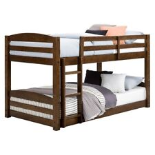 Metal Twin Over Full Bunk Beds Ladder Kids Teens Adult Dorm Bedroom Furniture
