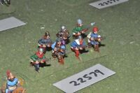 25mm medieval / english - handgunners 7 figs inf - inf (22579)