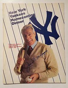 JOE DiMAGGIO SIGNED AUTO 1982 NEW YORK YANKEES HOMECOMING MAGAZINE, JSA/LOA
