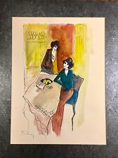 Original Itzchak Tarkay Watercolor, Signed