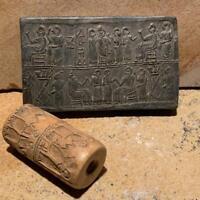 Sumerian cylinder seal replica of Queen Puabi Mesopotamian art